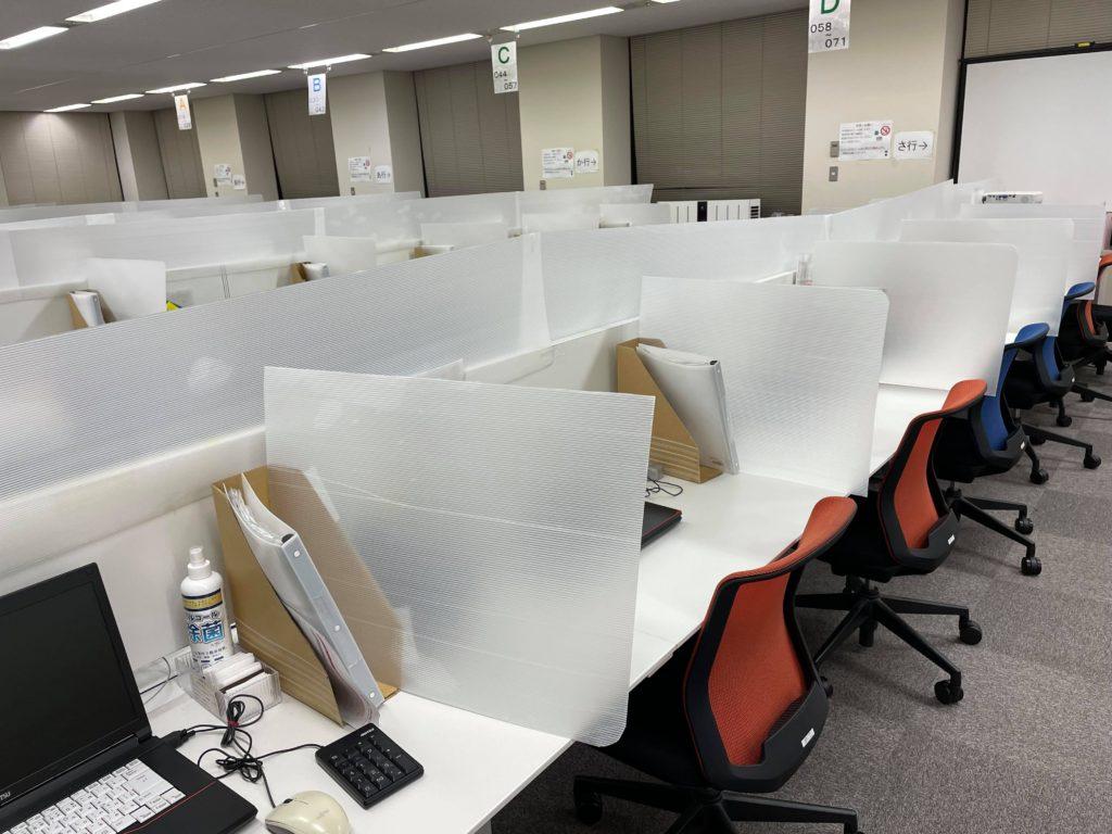 コールセンター 飛沫防止パネル 札幌 プラスチック加工 株式会社アイドウ 短納期 アクリル