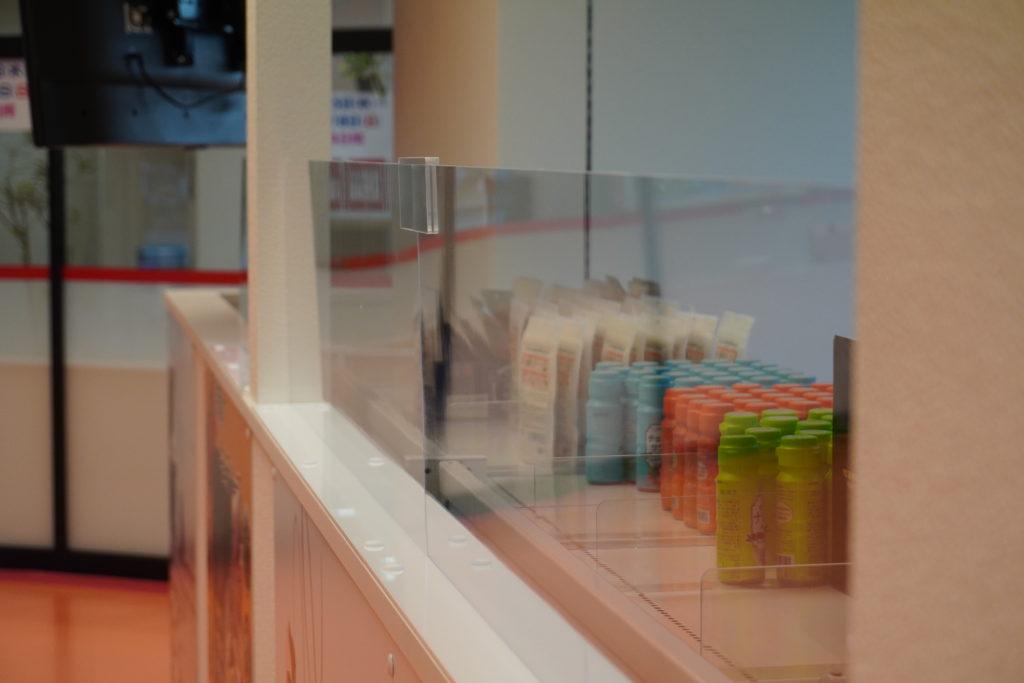 飛沫防止パネル 防犯パネル 札幌市 株式会社アイドウ 盗難防止 韓国食材 SHIN MART